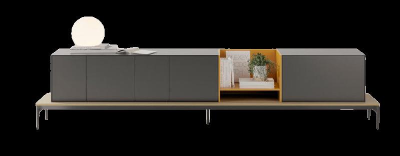 meuble tv gris treku rangement