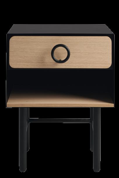 table chevet petite resistub en bois et métal